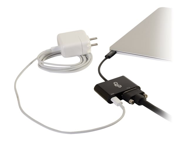 C2G USB C to VGA Adapter with Power Delivery