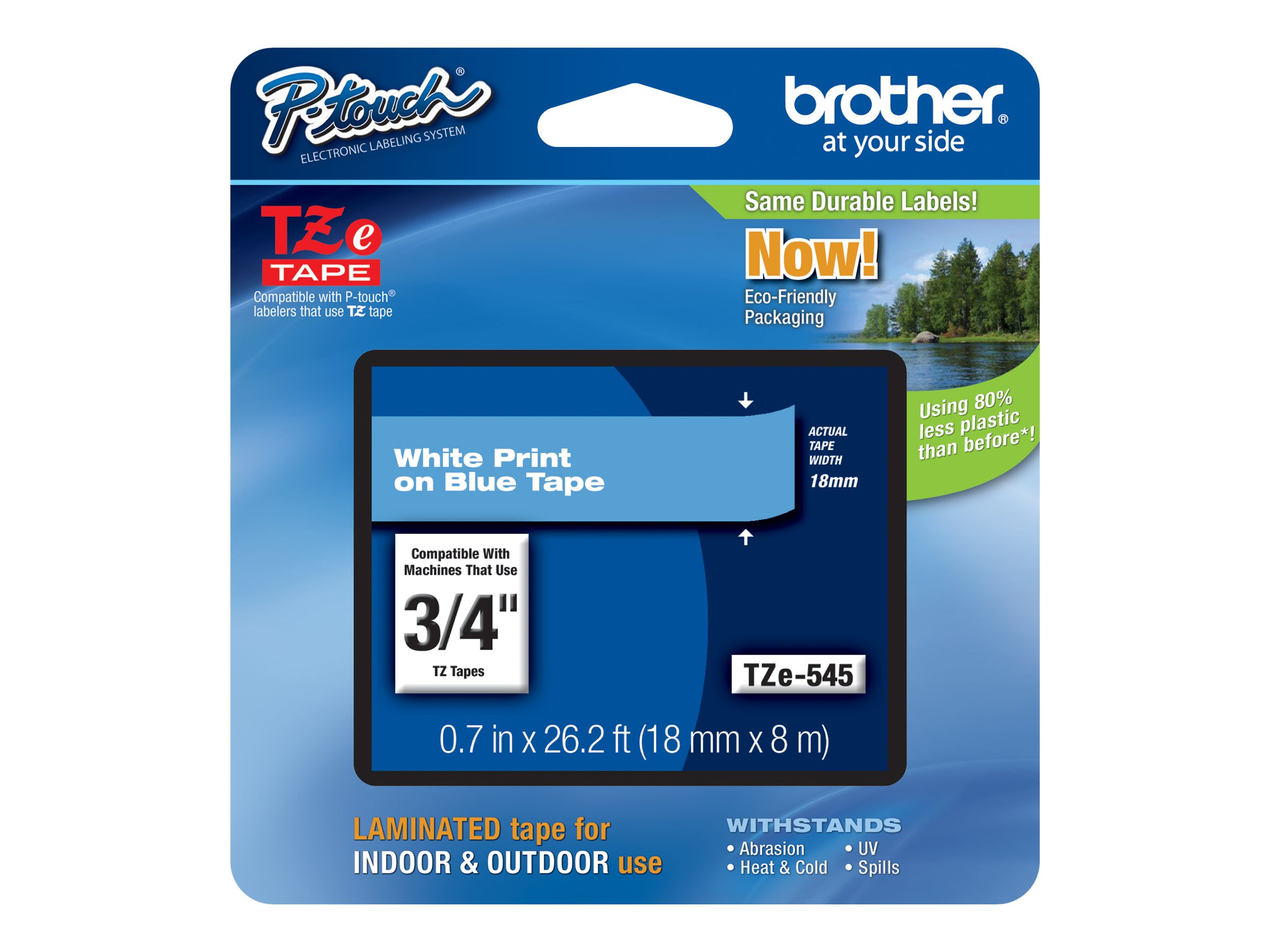 Brother TZe-545 - laminated tape - 1 roll(s) - Roll (1.8 cm x 8 m)