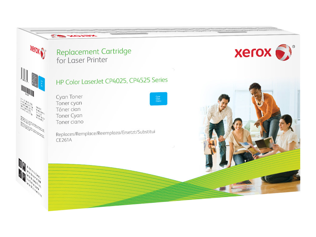 xerox hp colour laserjet cp4525 cyan cartouche de toner alternative pour hp ce261a. Black Bedroom Furniture Sets. Home Design Ideas