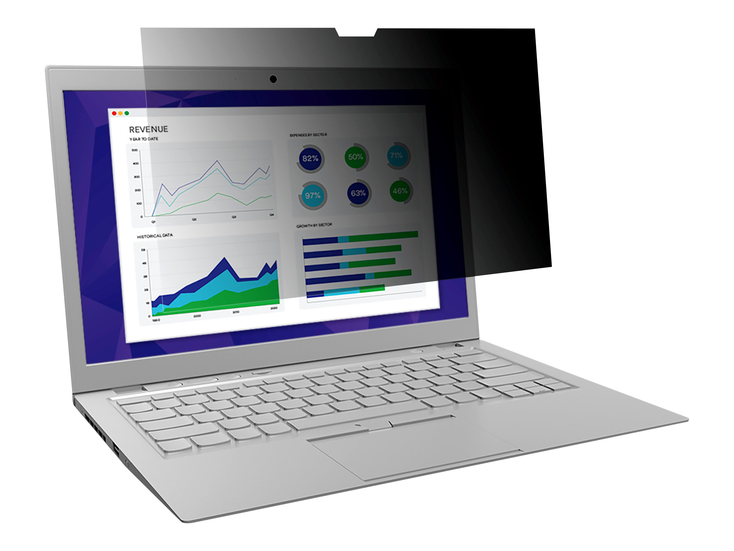 """3M Privacy Filter for Edge-to-Edge 12.5"""" Full Screen Laptop with COMPLY Attachment System notebook privacy filter"""