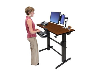 Charmant WORKFIT D SIT STAND DESK (CHERRY SURFACE)