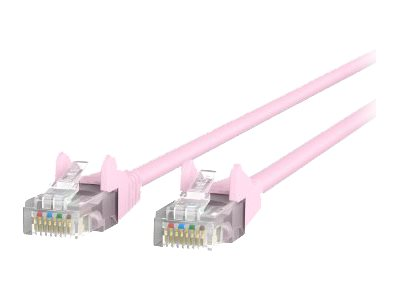 Belkin Patch cable RJ-45 (M) to RJ-45 (M) 7 ft UTP CAT 5e snagless pink
