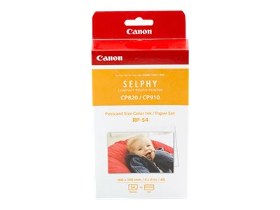 Canon RP-54 1 print ribbon cassette and paper kit for SELPHY CP1200,