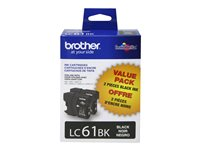 Brother LC-612PKS 2-pack black original ink cartridge