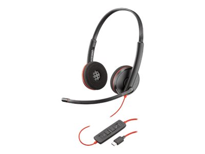 Plantronics Blackwire C3220 USB-C - 3200 Series - casque - sur-oreille - filaire - USB-C - isolation acoustique