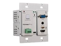 KanexPro VGA & HDMI Wall Plate Transmitter over HDBaseT With 4K over HDMI Video/audio extender
