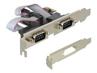 DeLock PCI Express Card 2 x Serial - Adaptateur série