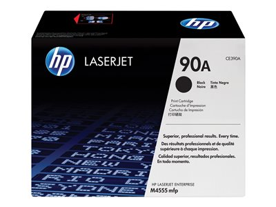 HP 90A - black - original - LaserJet - toner cartridge (CE390A)
