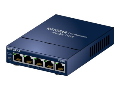 NETGEAR FS105v3 - Switch - unmanaged - 5 x 10/100 - desktop, wall-mountable