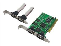 LogiLink PCI to Serial 4-port Controller Card - Parallel-Adapter