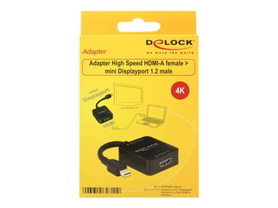 Adapter High Speed HDMI-A female > mini Displayport 1.2 male
