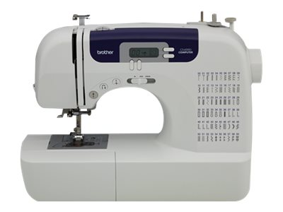 Brother CS6000i - Sewing machine - computerized - 60 stitches - 7 one-step buttonholes - LCD display