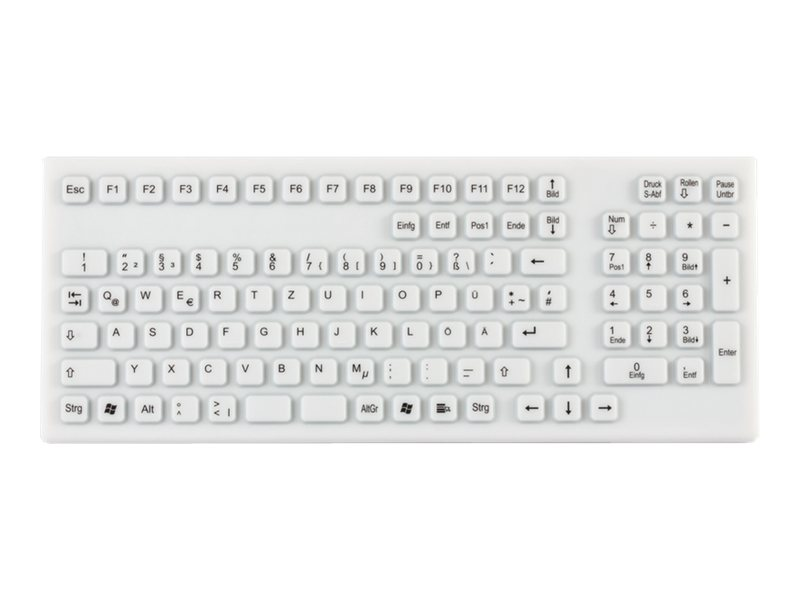GETT TKG-106-IP68-WHITE - Tastatur - USB - Deutsch - weiß