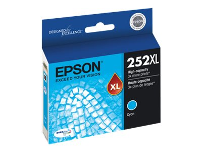 Epson 252XL - XL - cyan - original - ink cartridge