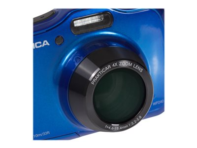 Praktica Luxmedia WP240 - Digital camera - compact - 20.0 MP - 720p / 30 fps - 4x optical zoom - underwater up to 10 m - blue