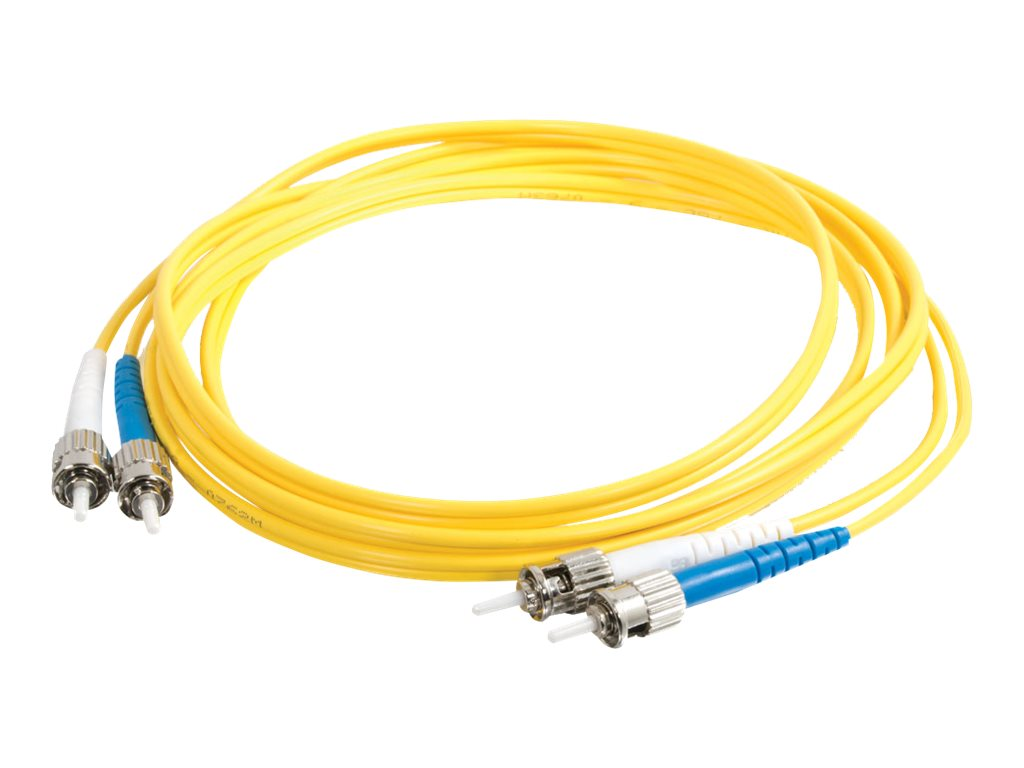 C2G 7m SC-ST 9/125 Duplex Single Mode OS2 Fiber Cable - Plenum CMP-Rated - Yellow - 23ft - patch cable - 7 m - yellow