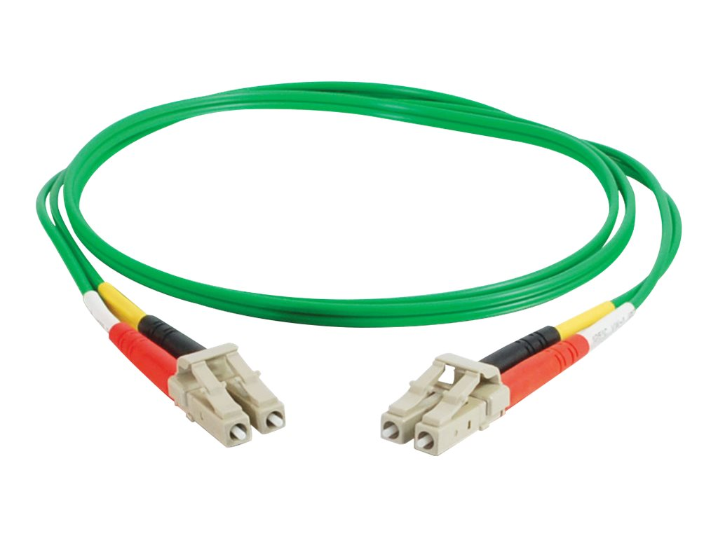 C2G 10m LC-LC 62.5/125 OM1 Duplex Multimode PVC Fiber Optic Cable - Green - patch cable - 10 m - green