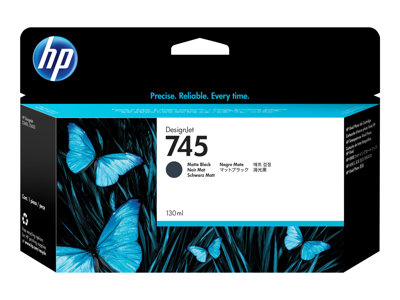 HP 745 130 ml matte black original DesignJet ink cartridge