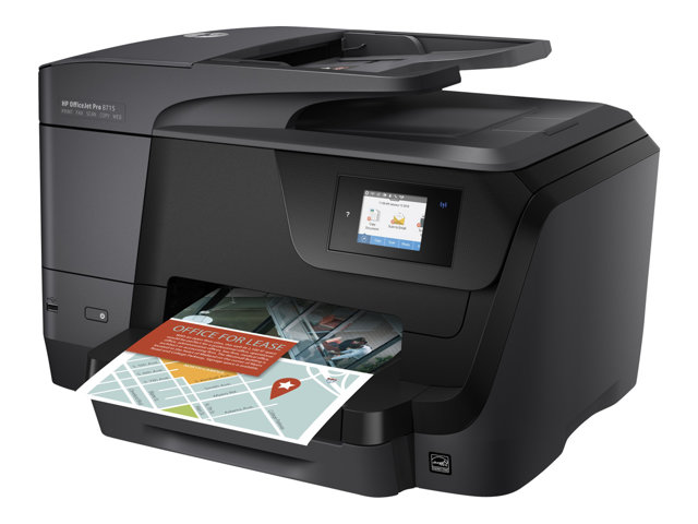 HP Officejet Pro 8718 All-in-One - Imprimante multifonctions - couleur - jet d'encre - A4 (210 x 297 mm), Legal (216 x 356 mm) (original) - A4/Legal (support) - jusqu'à 30 ppm (copie) - jusqu'à 35 ppm (impression) - 250 feuilles - USB 2.0, LAN, Wi-Fi(n), hôte USB