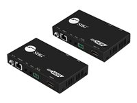 SIIG 4K HDR HDMI 2.0 HDBaseT Extender Over Single Cat5e/6 with RS-232 & IR