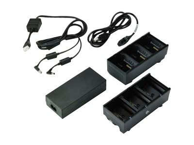 Zebra 3-Slot Battery Charger Connected via Y Cable - battery charger