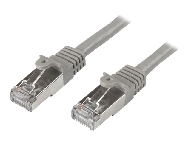Image of StarTech.com 0.5m Cat6 Patch Cable - Shielded (SFTP) - Gray - patch cable - 50 cm - grey