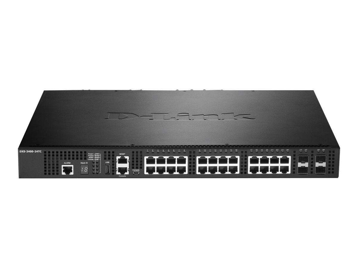D-Link DXS 3400-24TC - switch - 24 ports - managed - rack-mountable