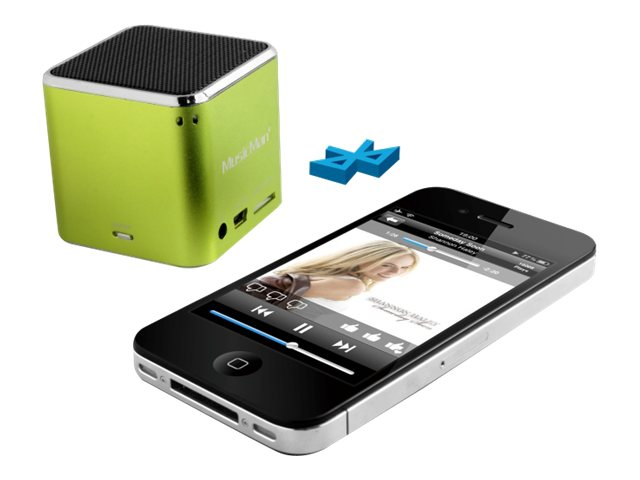 Technaxx MusicMan Mini Wireless Soundstation BT-X2 - Lautsprecher - tragbar - drahtlos - Bluetooth - grün