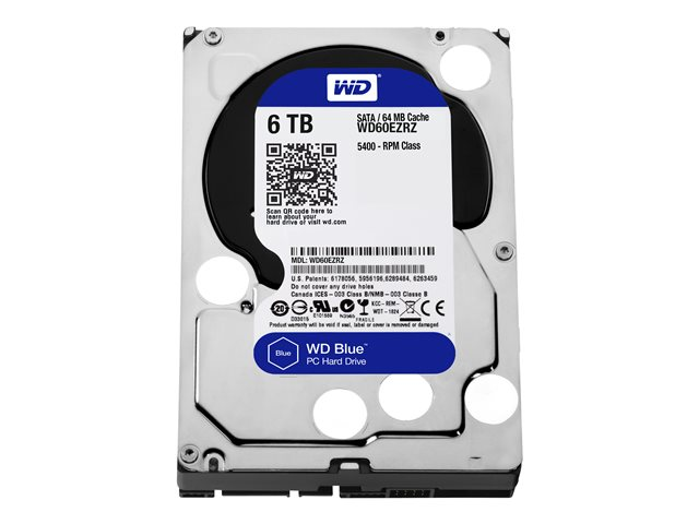 Image of WD Blue - hard drive - 6 TB - SATA 6Gb/s