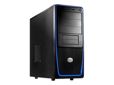 Mid tower - ATX - no power supply ( ATX / PS/2 ) - black, blue - USB/Audio
