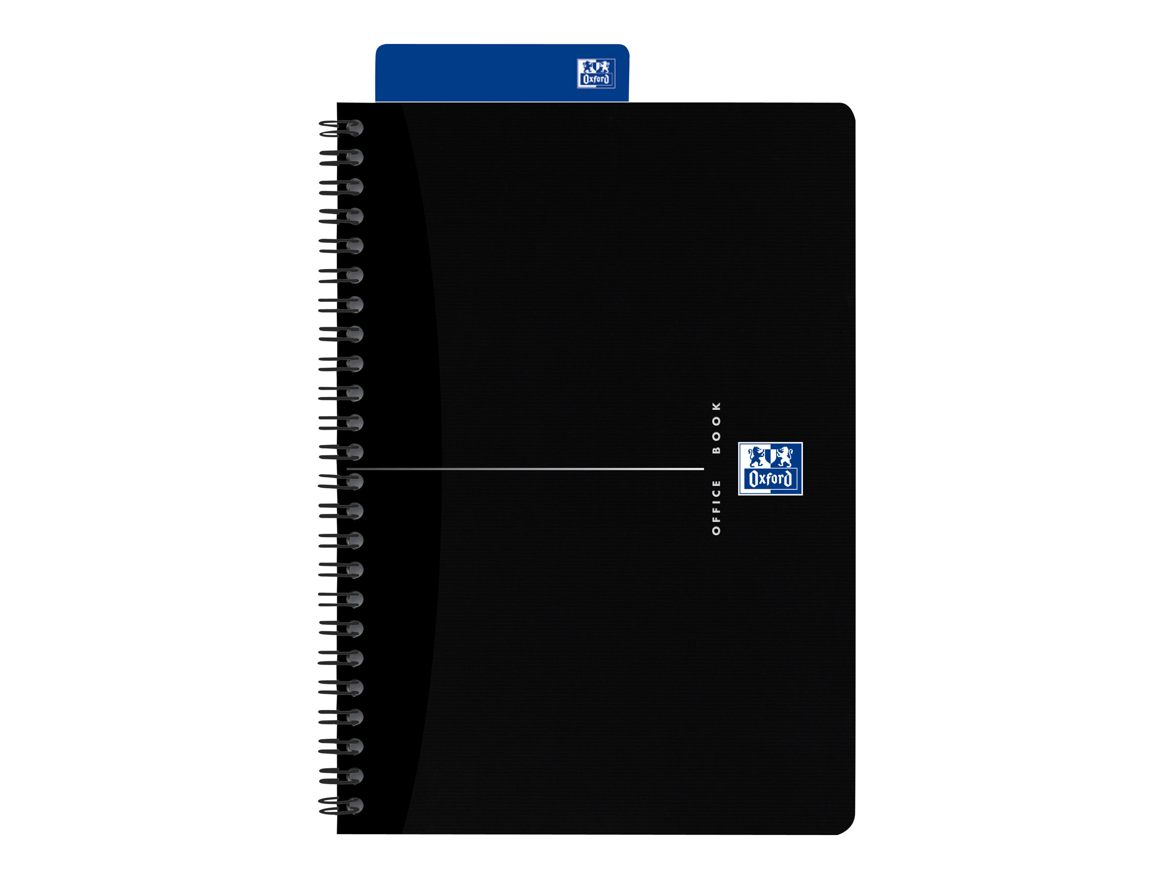 Oxford Office Smart Black - Cahier - A5 - 180 pages - Petits carreaux - couverture noire