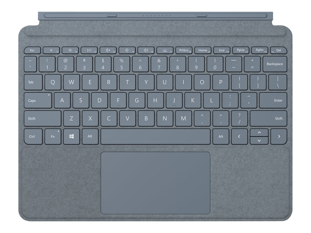 Microsoft Surface Go Type Cover - keyboard - with trackpad, accelerometer - English - ice blue
