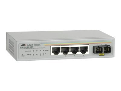 Allied Telesis AT FS705E - Switch - 4 x 10/100 + 1 x 100Base-FX - Desktop