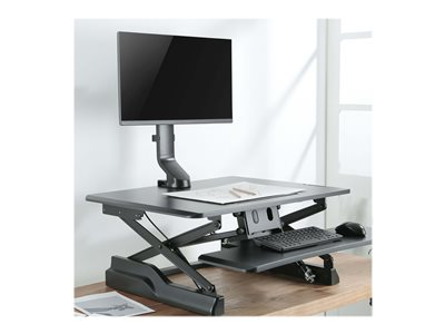 Tripp Lite Single-Display Monitor Arm with Desk Clamp and Grommet - Height Adjustable, 17