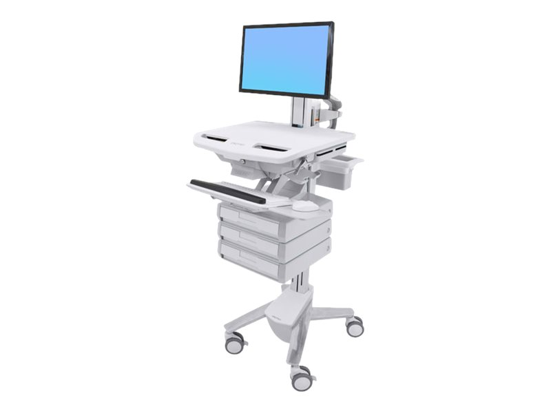 Ergotron StyleView Cart with LCD Pivot, 3 Drawers - cart (open architecture)