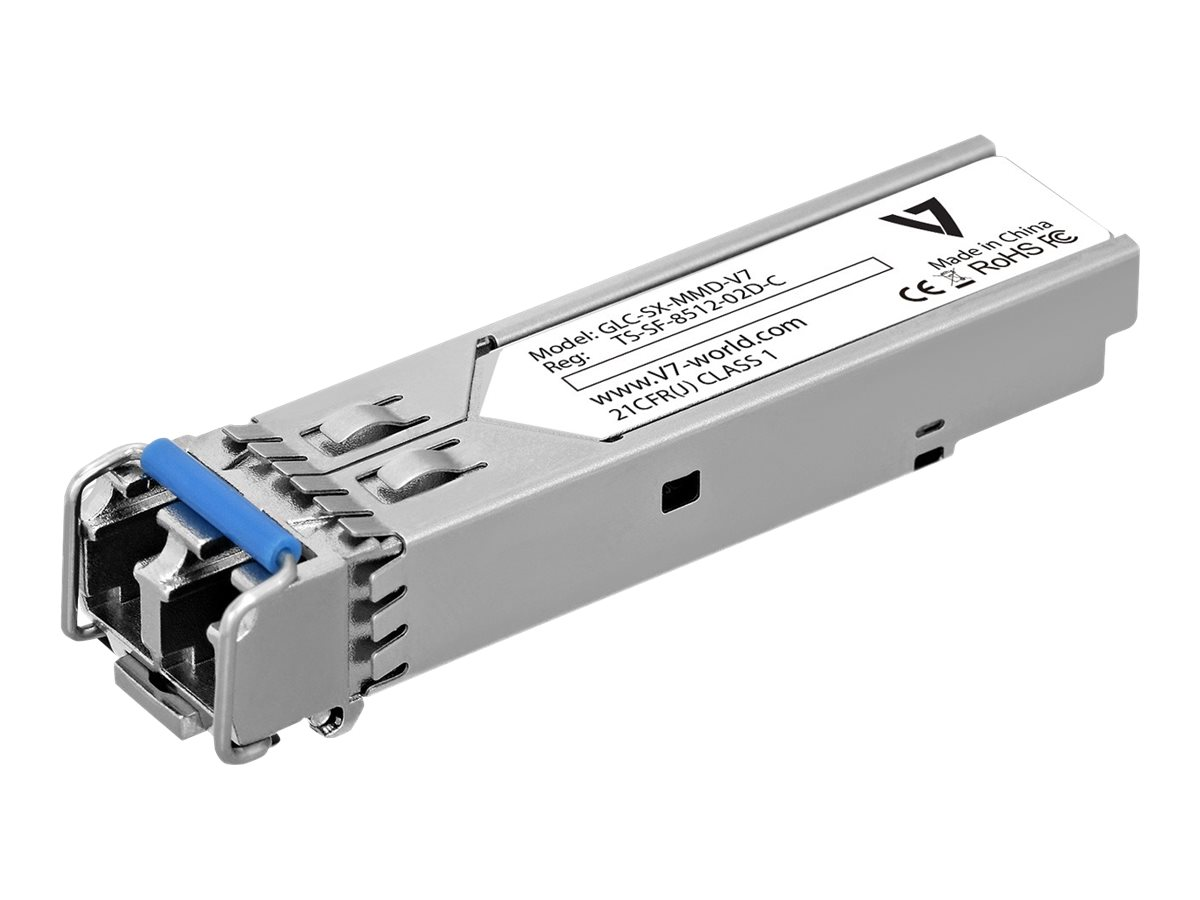 V7 GLC-SX-MMD-V7-1E - SFP (Mini-GBIC)-Transceiver-Modul - Gigabit Ethernet - 1000Base-SX - bis zu 550 m - 850 nm