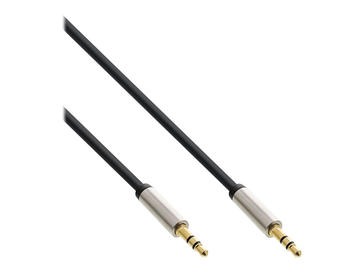 InLine - Audiokabel - Mini-Phone Stereo 3,5 mm (M) bis Mini-Phone Stereo 3,5 mm (M) - 2 m - Schwarz