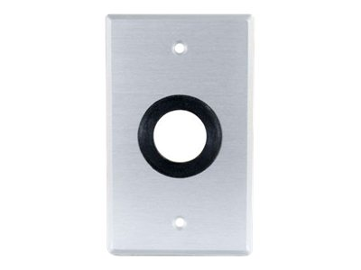 C2G Classic Series 1in Grommet Cable Pass Through Single Gang Wall Plate - Brushed Aluminum - mounting plate