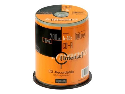Intenso - 100 x CD-R - 700 MB ( 80 Min ) 52x - Spindel