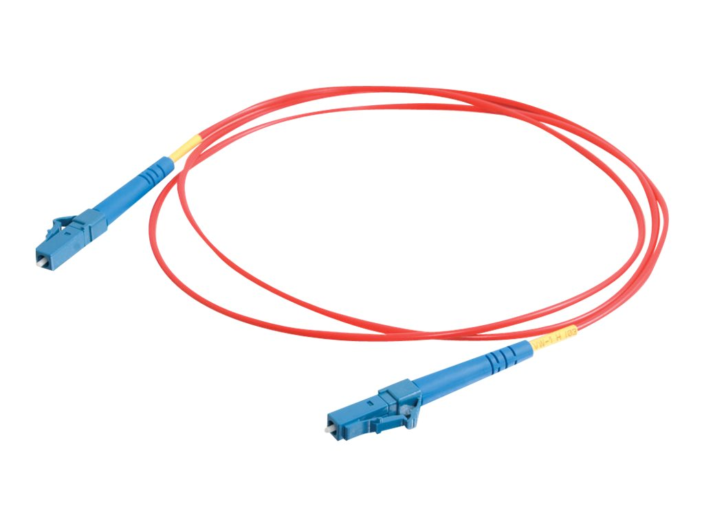 C2G 1m LC-LC 9/125 Simplex Single Mode OS2 Fiber Cable - Red - 3ft - patch cable - 1 m - red