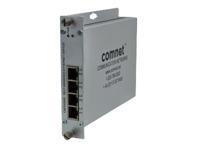 COMNET CNFE4SMS Switch managed 4 x 10/100 wall-mountable