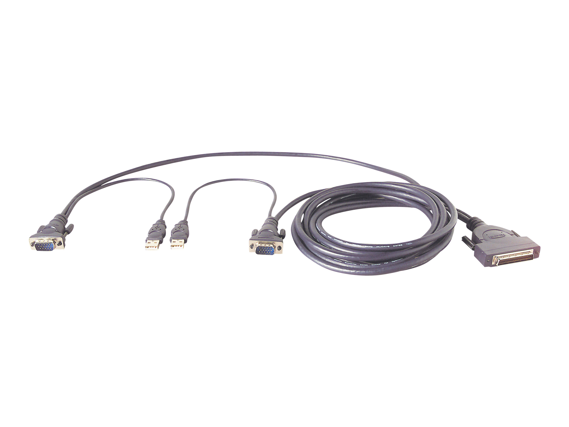 Belkin OmniView Dual Port Cable, USB - keyboard / video / mouse (KVM) cable - 3.7 m - B2B