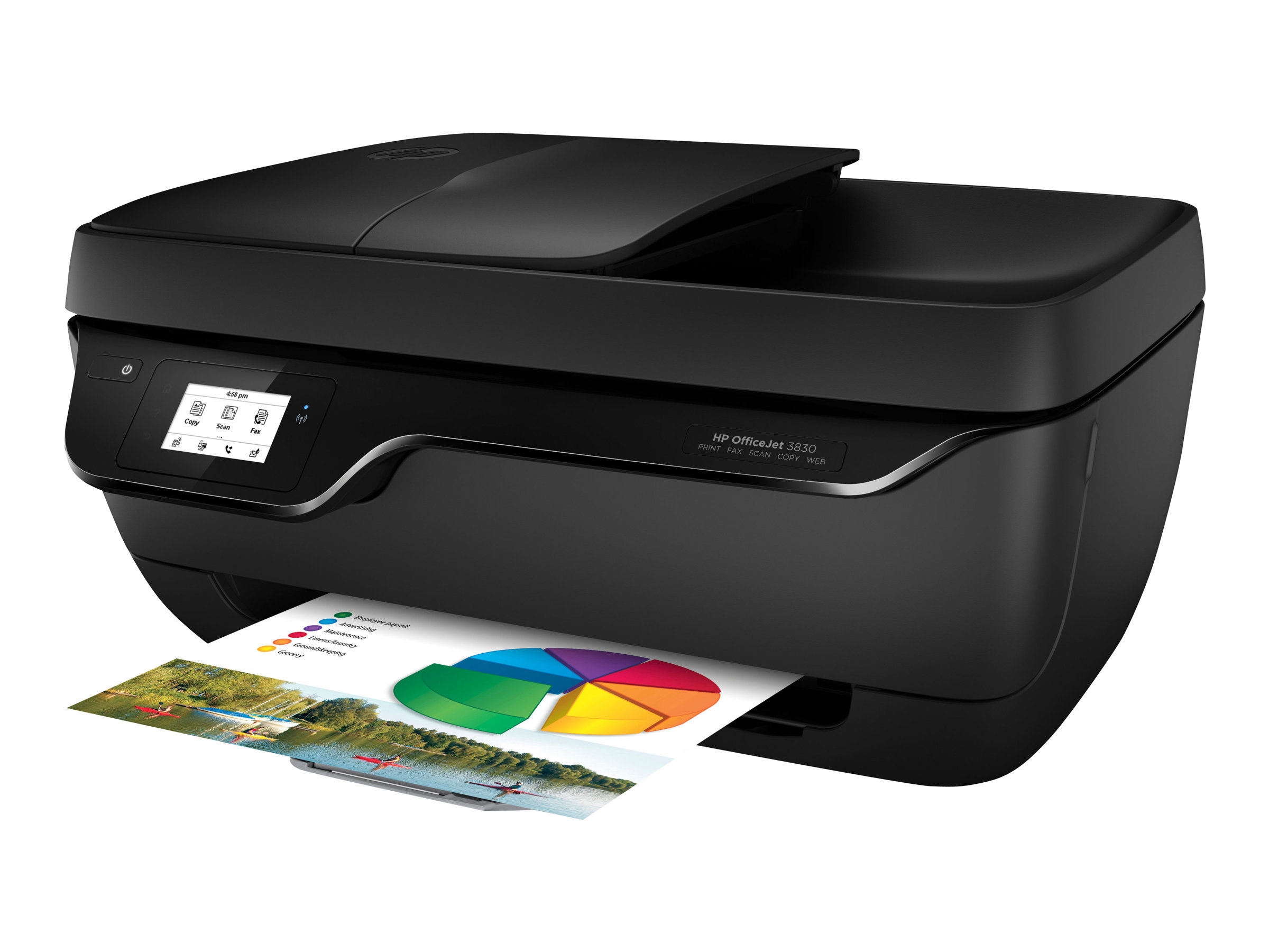 HP Officejet 3833 All-in-One - imprimante multifonctions - couleur - jet ... f0567fe8a991