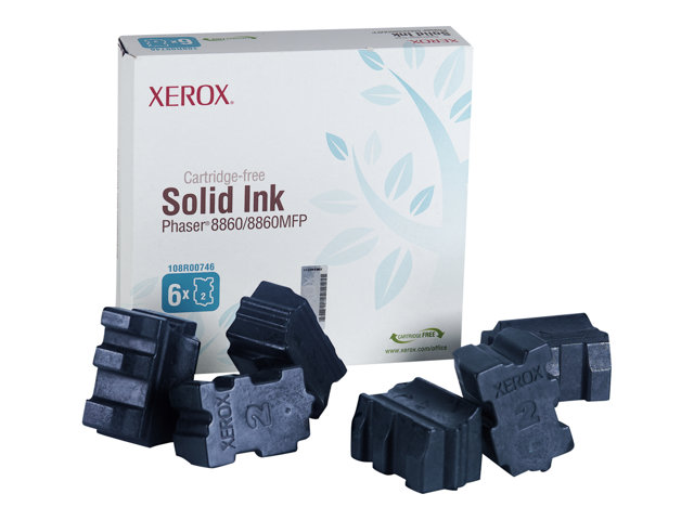 Xerox Phaser 8860MFP - Pack de 6 - cyan - encres solides - pour Phaser 8860, 8860DN, 8860MFP, 8860MFP/D, 8860MFP/E, 8860MFP/SD, 8860PP, 8860WDN