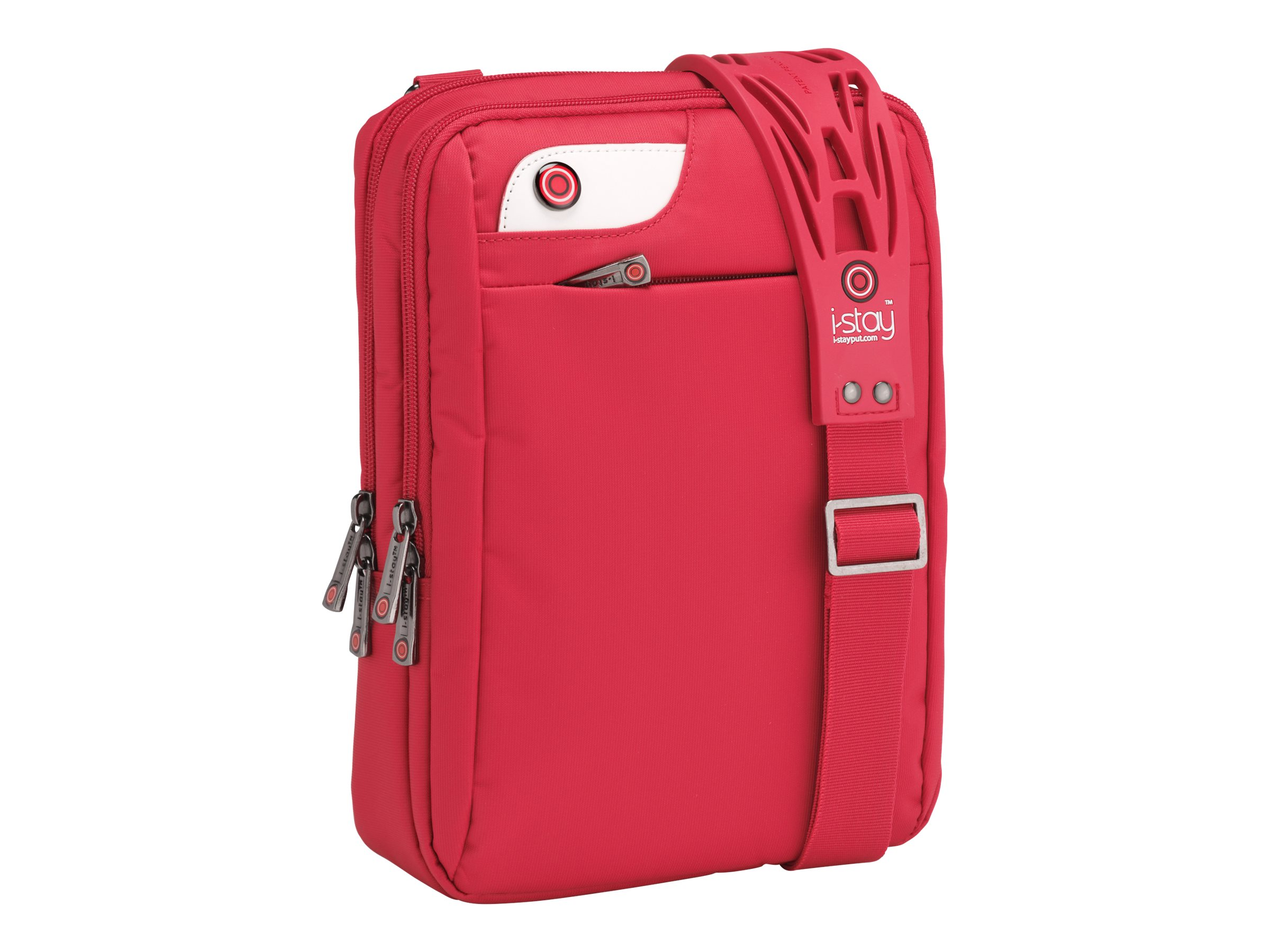 Falcon i-stay - Schultertasche für Tablet / Notebook - Nylon, Polyester - Rot