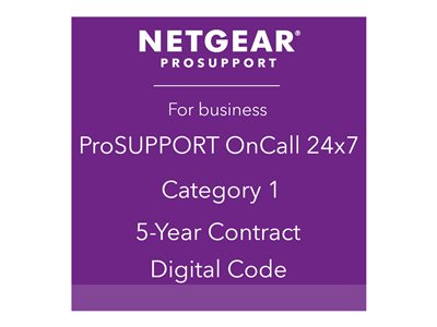 NETGEAR ProSupport OnCall 24x7 Category 1 Technical support phone consulting 5 years 2