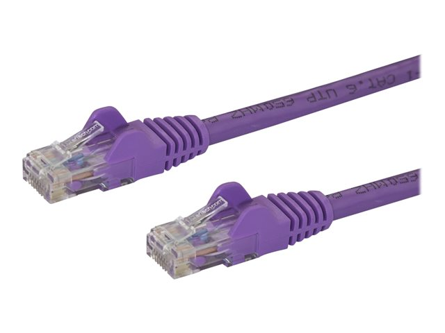 StarTech.com 7ft CAT6 Ethernet Cable, 10 Gigabit Snagless RJ45 650MHz 100W PoE Patch Cord, CAT 6 10GbE UTP Network Cable w/Strain Relief, Purple, Fluke Tested/Wiring is UL Certified/TIA - Category 6 - 24AWG (N6PATCH7PL)
