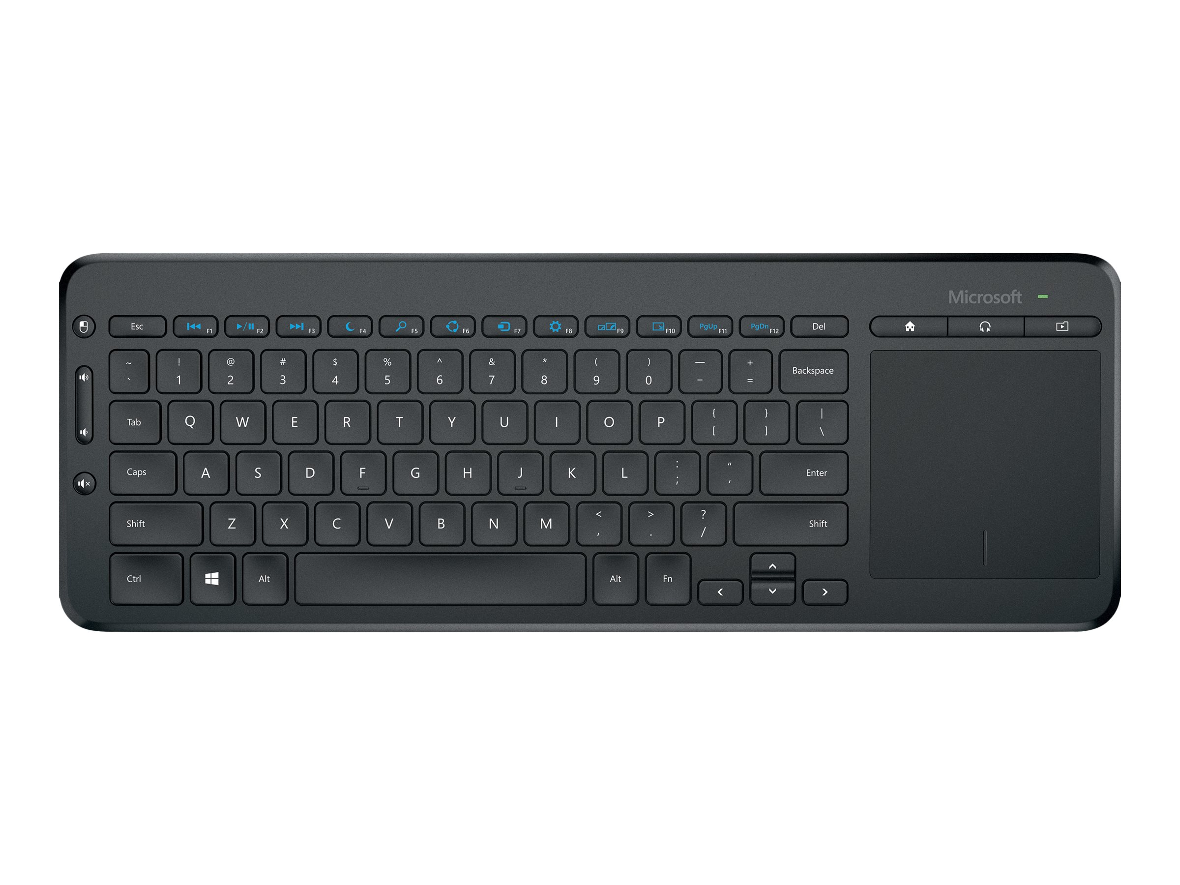 Microsoft All-in-One Media - Tastatur - kabellos - 2.4 GHz - Deutsch