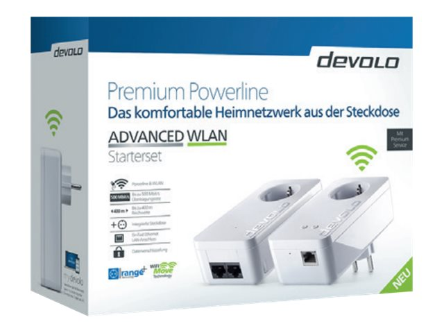 devolo ADVANCED WLAN - Starter Kit - Bridge - HomePlug AV (HPAV) - 802.11b/g/n - 2,4 GHz