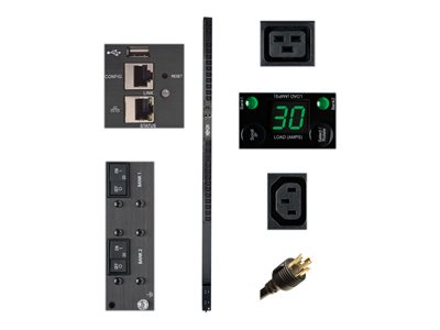Tripp Lite 5/5.8kW Single-Phase Monitored PDU with LX Platform Interface, 208/240V Outlets (20 C13